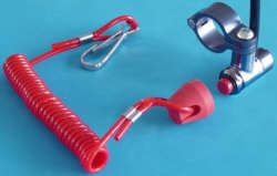 Ersatzstöpsel für CNC-Killschalter Gummikappe mit Spiralband