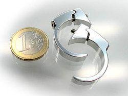 Lenkerklemmschellen poliert für Motoscope Mini