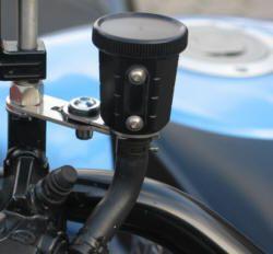 Bremsflüssigkeitsbehälter eloxiert