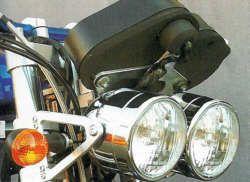 Doppelscheinwerfer-Metall