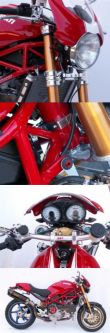 Ducati Monster Gabelbrücke Radial-Spannsystem