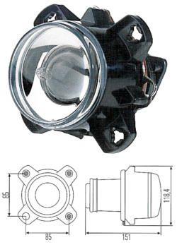 HELLA Abblend-Scheinwerfermodul Halogen 90mm
