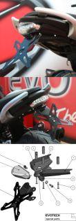Evotech Kennzeichenhalter Suzuki Gladius SFV 650