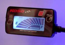 Koso Mini LCD Tankanzeige beleuchtet