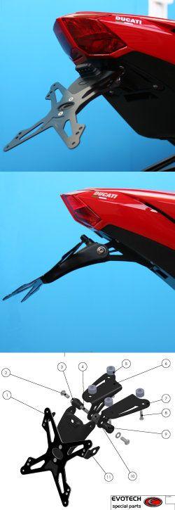 Evotech Kennzeichenhalter Ducati Streetfighter