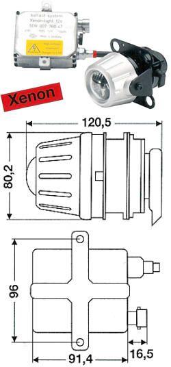 HELLA Premium Fernscheinwerfer-Modul Xenon 50mm