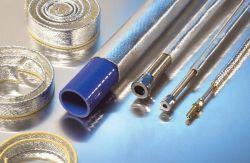 Kevlar Hitzeschutzschlauch aluminiumbeschichtet genäht