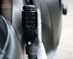 Bremsflüssigkeitsreservoir Nissin hinten, eloxiert