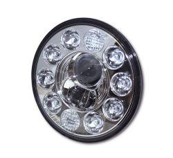 Highsider LED Hauptscheinwerfereinsatz mit Abblend- Fern- und Standlichtfunktion E-homologiert verchromte Blende