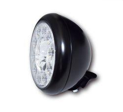 Highsider LED Hauptscheinwerfer HD-Style Schwarz mit Abblend- Fern- und Standlichtfunktion E-homologiert verchromte Blende und Befestigung unten