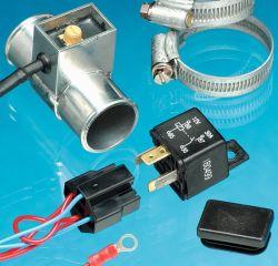 Inline Thermoschalter einstellbar 70°C-120°C mit verschiedenen Rohrdurchmessern