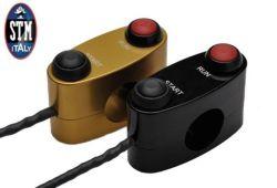 STM Schalterarmatur Race 2-fach links rechts 2 Taster oder 1 Taster/1 Schalter