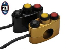 STM Schalterarmatur Race 3-fach links rechts 2 Taster 1 Schalter