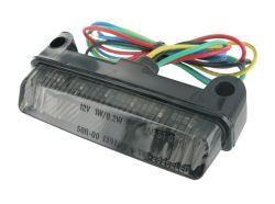 STR8 Mini LED Rückleuchte mit rauchgrau getöntem Glas und Blinkfunktion